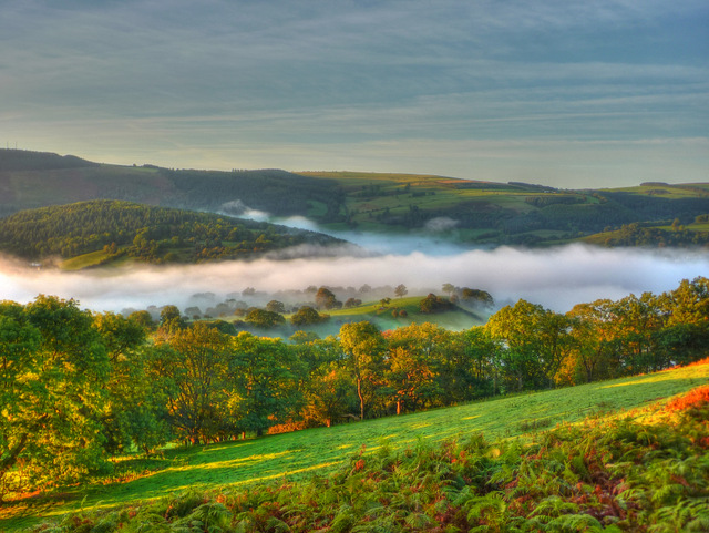 Llangollen drowned in a sea of mist