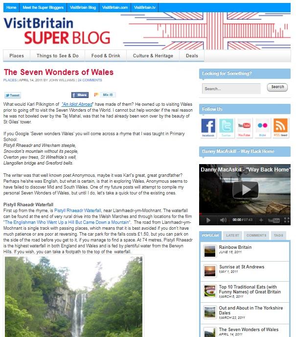 VisitBritain Superblog